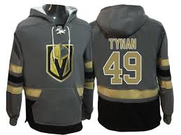 Hoodie Golden Primary Name Pullover Number Steel j Player Knights Tynan 49 T Vegas And Logo Gray