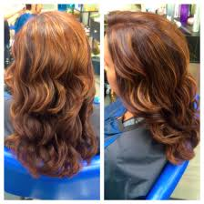 Aburn Red With Caramel Highlights With