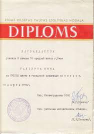 Тигги Инна Диплом года Диплом 1976 года по физике по городу Рига Инна Бальзина 76 школа г
