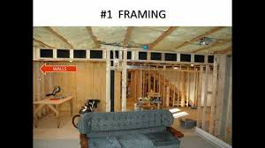 How To Finish A Basement YouTube - Ununfinished basement before and after