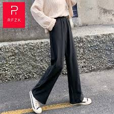 <b>Rfzk</b> Trouser For Women <b>High Waist</b> Causal Loose Wide Leg Pants ...