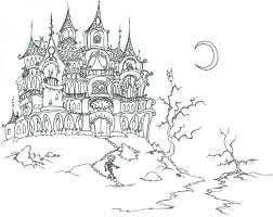 Small Picture coloring pages a haunted house with skeletons bluebisonnet