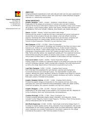 Sample Graphic Design Resumes Pleasing Online Resume Graphic Designer For Sample Design Resume 23