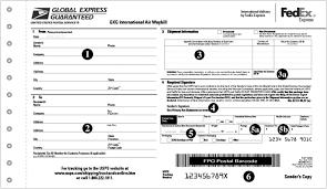 Usps Global Express Guaranteed Air Waybill