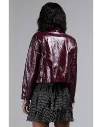 akira multicolor break my heart faux patent leather moto jacket lyst