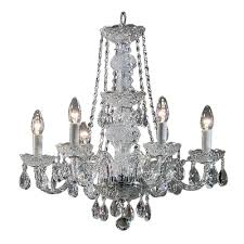 classic lighting 6 light monticello italian crystal chandelier