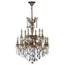 furniture crystal bronze chandeliers lighting the home depot with regard to bronze chandelier with crystals