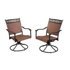 hampton bay niles park sling patio swivel rockers 2 pack