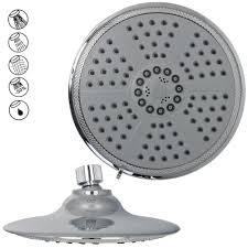 Round 18 Cm Shower Head Chrome Ball Joint Sanlingo Rain Shower Head