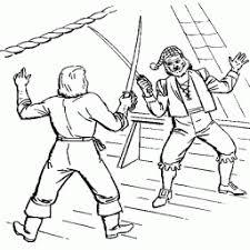 Kleurplaat Piraten Aan Het Vechten Met Zwaard Kleurplaatarchiefnl