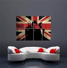 image is loading muse rock band uk music union jack new  on rock wall art uk with muse rock band uk music union jack new giant wall art print poster