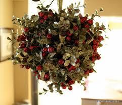 Mistletoe Ball Decoration Christmas Home Tour Mistletoe Christmas decor and Wreaths 2
