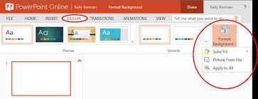 word powerpoint online format background in powerpoint online microsoft 365 blog