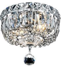 elegant lighting v2528f8c sa tranquil 2 light 8 inch chrome flush mount ceiling light in spectra swarovski