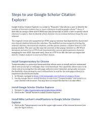 Use Google Scholar Citation Explorer