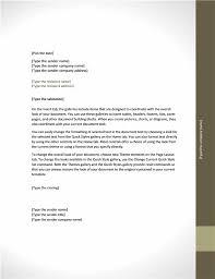 Business letter (Adjacency design)