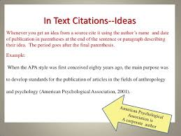 American Psychology Association Format Brilliant Ideas Of Example Of A In Text Citation Apa Style Apa