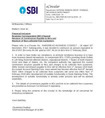 Pay Commission Of Sbi Csp Revision Of Commission Payable To