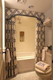 luxury bathroom shower curtain sets or interiors chic small bathroom design with white blue shower curtains