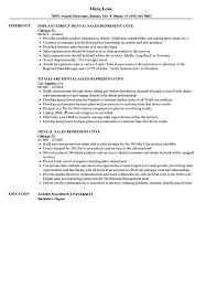 Dental Sales Representative Resume Samples Velvet Jobs