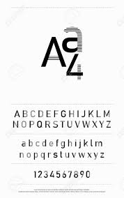 Modern Hipster Abstract Font Alphabet And Numbers Designs For