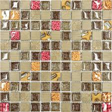 burdy brown gold glass mosaic kitchen backsplash tile