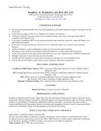 Marvellous Design New Grad Nursing Resume 15 Nurse Registered