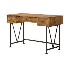 industrial office desk. amazoncom coaster home furnishings analiese modern rustic industrial three drawer writing desk antique nutmeg kitchen u0026 dining office