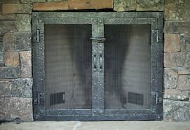 back to great iron fireplace doors ideas