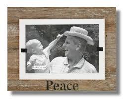 peace 7 x 9 mini reclaimed wood frame mini wht