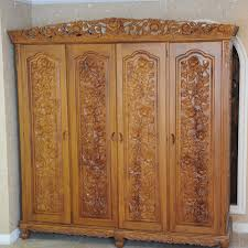 alibaba furniture. Crown Grapefruit Rose Four Gold Teak Wardrobe Closet Solid Wood Furniture , European Alibaba