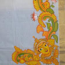 mural painted saree krishna design 2 jpg 1500
