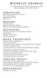 How To Write A Resume As A College Student Examples Of College