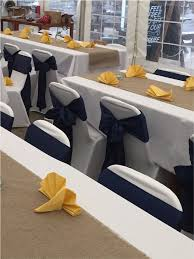50 navy blue satin chair sashes new