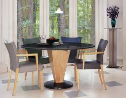 granite dining tables with maple and polished black granite