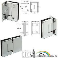1 x hafele brass shower door hinge wall
