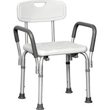 probasics deluxe shower chair with padded arms larger image