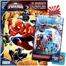 72 spiderman pictures to print and color. Amazon Com Spiderman Coloring Book With Fun Set Coloring Book Crayons Stickers Toys Games