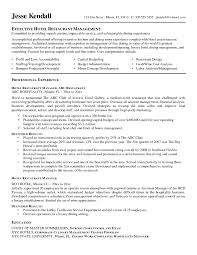 Resume Sample Of Hotel And Restaurant Management New Free Resume