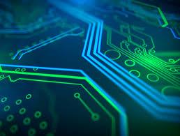 Technology Background Circuit Board Futuristic Server Code