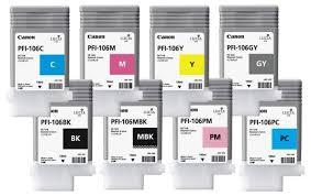 Купить <b>Картридж Canon PFI</b>-<b>106</b> MBK/BK/M/C/Y/GY/PC/<b>PM</b> 8х130 ...