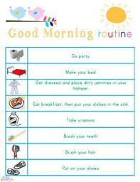 Adhd Morning Routine Chart Kids Morning Bedtime And Ready For School Free Printables