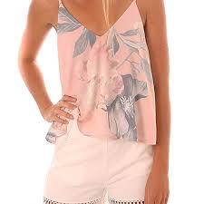 Buy XuBa <b>Women</b> Summer <b>Sexy V</b>-<b>neck Sling</b> Backless Printing ...