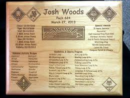 Arrow Of Light Display Plaque Arrow Of Light Plaque With All The Boys Stats Scout Shop