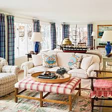 Red And Blue Living Room Punches Of Pattern Coastal Colors Red White Blue Coastal
