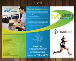 Physiotherapy Leaflet Design Scoliosis Brochure Front