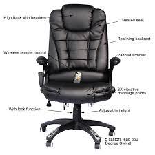 homcom executive ergonomic pu leather heated vibrating massage office chair com