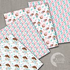 Papers Paper Butterfly Digital Papers Girl Paper Butterfly Pattern Summer Papers Floral Digital Papers Pink Papers Amb 1083 Ambillustrations
