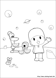 Pocoyo Coloring Picture Pocoyo Party Theme Coloring Pages