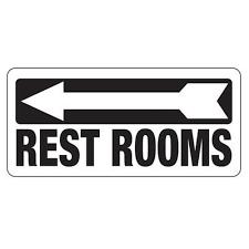 bathroom sign with arrow. Simple Arrow Restrooms Sign Left Arrow And Bathroom With Arrow M
